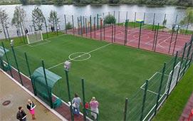 Спортивные площадки коттеджного городка Золоче